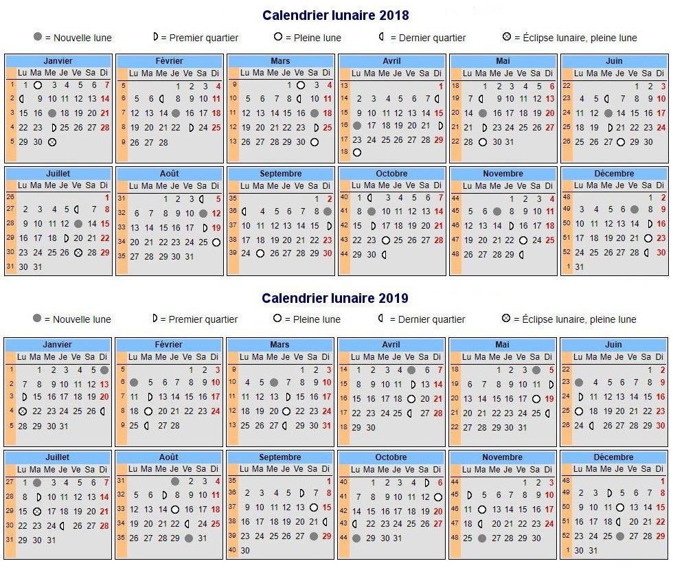 Calendrier Nouvelle Lune 2019.Calendrier Des Chasseurs